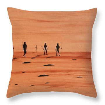 Throw Pillow featuring the painting My Dreamtime 2 by Tim Mullaney