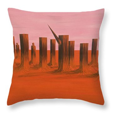 Throw Pillow featuring the painting My Dreamtime 3 by Tim Mullaney