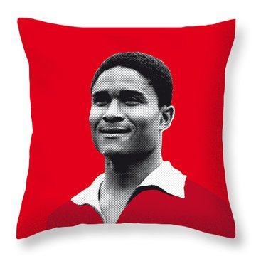 My Eusebio Soccer Legend Poster Throw Pillow by Chungkong Art