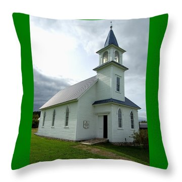 Throw Pillow featuring the photograph My Father's House by Ron Haist