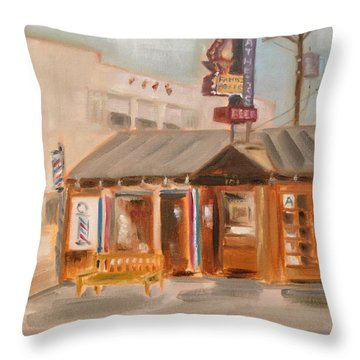 My Father's Office Throw Pillow by Lindsay Frost