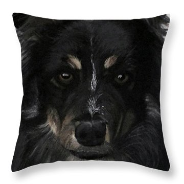 Throw Pillow featuring the painting My Favorite Bud by Sharon Duguay