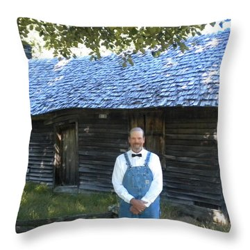 Throw Pillow featuring the photograph My Favorite Farmer  by Diannah Lynch