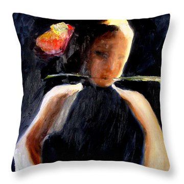 My First Glimpse Throw Pillow by Keith Thue