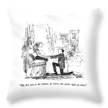 My First Love Is The Theatre Throw Pillow