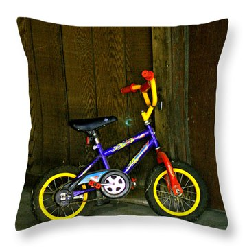 My First Ride Throw Pillow