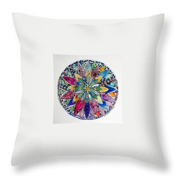 Spring Mandala Throw Pillow