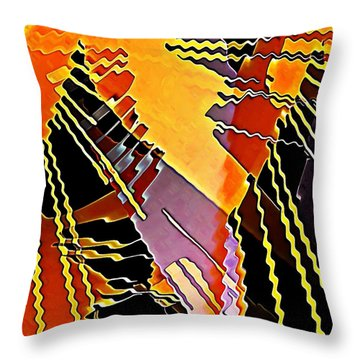 My Fission Electric Throw Pillow