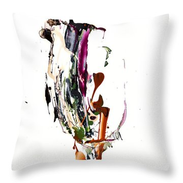 Throw Pillow featuring the painting My Form Of Jazz Series - 10186.110709 by Kris Haas