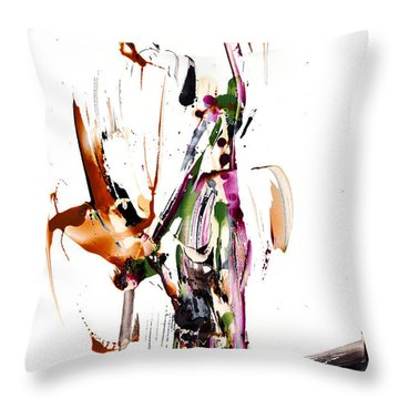 Throw Pillow featuring the painting My Form Of Jazz Series - 10187.110709 by Kris Haas
