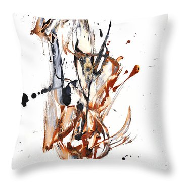 Throw Pillow featuring the painting My Form Of Jazz Series - 10188.110709 by Kris Haas