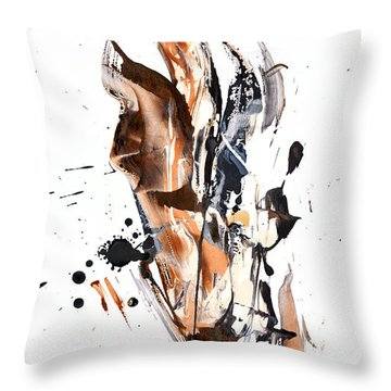 Throw Pillow featuring the painting My Form Of Jazz Series - 10189.110709 by Kris Haas