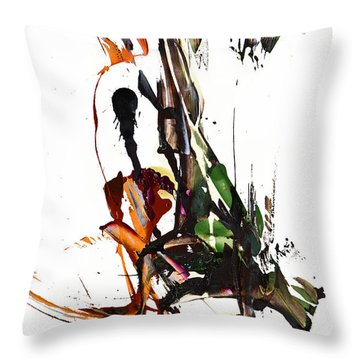 Throw Pillow featuring the painting My Form Of Jazz Series - 10185.110709 by Kris Haas