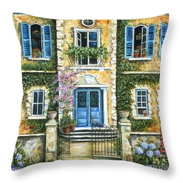 My French Villa Throw Pillow by Marilyn Dunlap