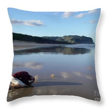 My Friend Photographer Throw Pillow by Jola Martysz