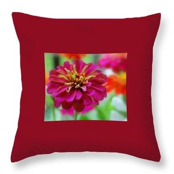 My Garden Throw Pillow by Marija Djedovic