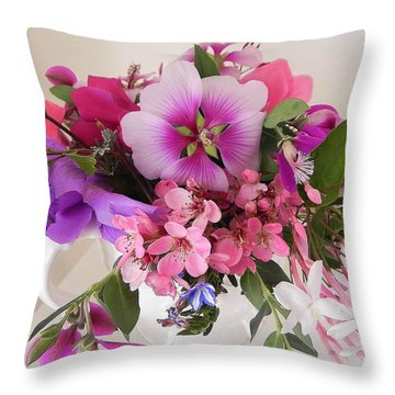 My Garden's Delight Throw Pillow
