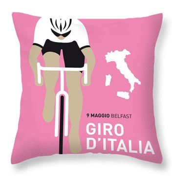 My Giro D Italia Minimal Poster 2014 Throw Pillow by Chungkong Art