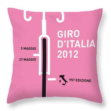 My Giro D' Italia Minimal Poster Throw Pillow by Chungkong Art