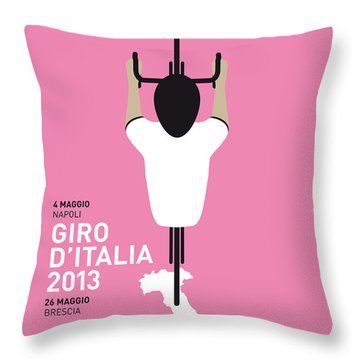 My Giro D'italia Minimal Poster Throw Pillow