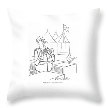 My God! Are You Sure? Throw Pillow by Mischa Richter