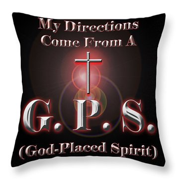 My Gps Throw Pillow