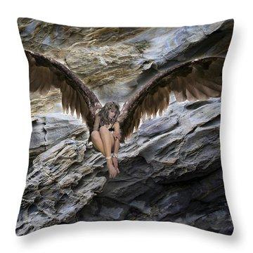 My Guardian Angel Throw Pillow