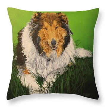 My Guardian  Throw Pillow by Wendy Shoults