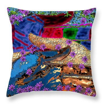 My Hand   Your Hand  And A Helping Hand Throw Pillow