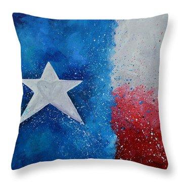 My Heart Belongs To Texas Throw Pillow