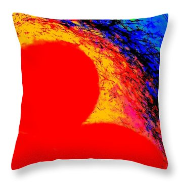 Throw Pillow featuring the digital art My Heart's On Fire Pillow By Vivian Anderson by Artists for Altered Cats Cyprus