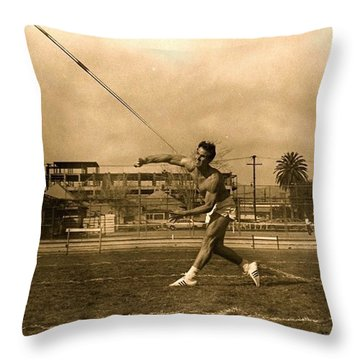 My #hero, George Porter, 1968 Throw Pillow by Anna Porter