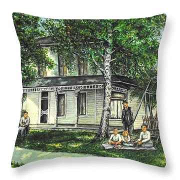 My Home Throw Pillow by Todd Spaur