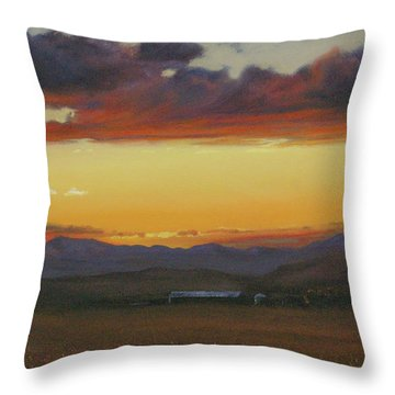 My Home's In Montana Throw Pillow by Mia DeLode