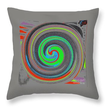 My Hurricane Throw Pillow by Catherine Lott