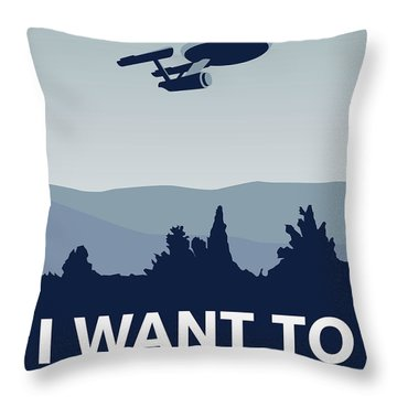 My I Want To Believe Minimal Poster-enterprice Throw Pillow by Chungkong Art