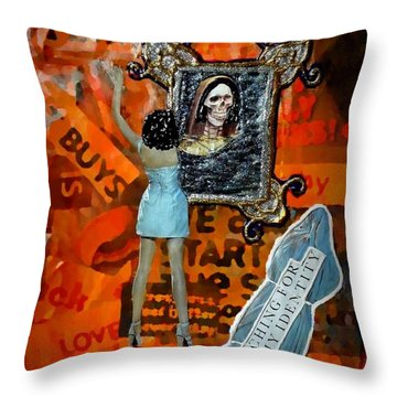 Throw Pillow featuring the painting My Identity by Lisa Piper