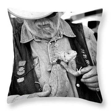 My Iguana Throw Pillow