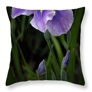 Throw Pillow featuring the photograph My Iris by Penny Lisowski