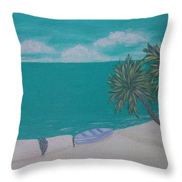 My Island Throw Pillow by Inge Lewis