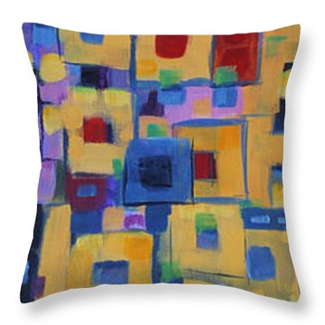 Throw Pillow featuring the painting My Jazz N Blues 1 by Holly Carmichael