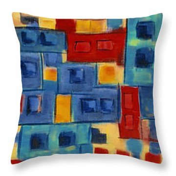Throw Pillow featuring the painting My Jazz N Blues 2 by Holly Carmichael