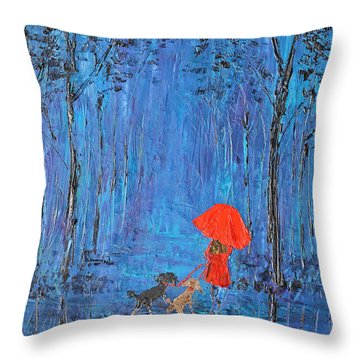 My Journey  Throw Pillow by Patricia Olson