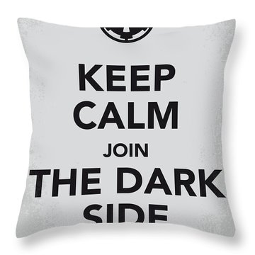 My Keep Calm Star Wars - Galactic Empire-poster Throw Pillow
