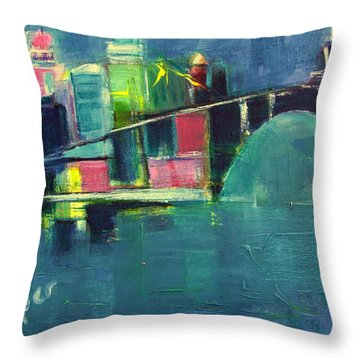 My Kind Of City Throw Pillow by Betty Pieper