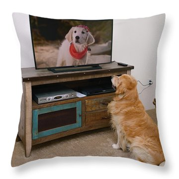 My Kind Of Movie Throw Pillow