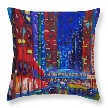 My Kind Of Town Throw Pillow by J Loren Reedy