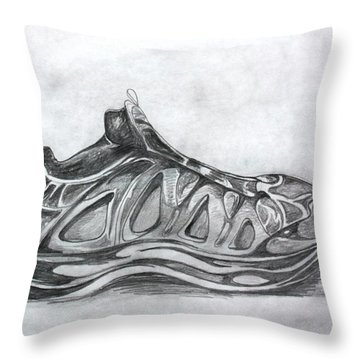 My Left Foot Throw Pillow by Pat Purdy