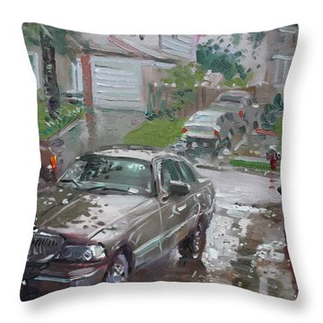 My Lincoln In The Rain Throw Pillow