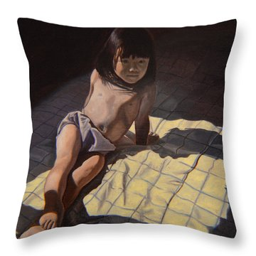 My Little Cheese Cake - Wah Zhee Tah Throw Pillow